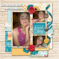 Pictures of my daughter.  Kit used: Brand New Day  Template: Free daily download at Go Digital Scrapbooking by Brenian Designs available at http://www.godigitalscrapbooking.com/shop/index.php?main_page=pro