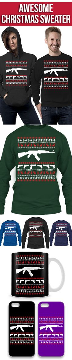 AK 47 Ugly Christmas Sweater! Click The Image To Buy It Now or Tag Someone You Want To Buy This For. #ak47