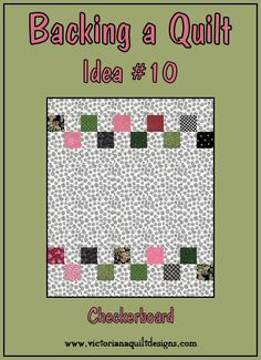 Backing a Quilt Idea #10 - Checkerboard