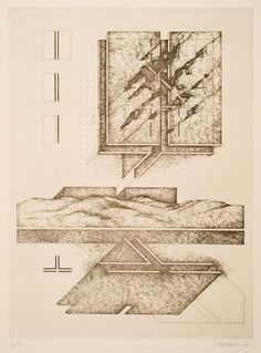 Raimund Abraham - Untitled [1982] An educator and architect, Raimund Abraham turned to drawing and printmaking as outlets for his inventive ...