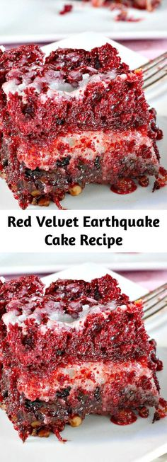 My Recipes, Baking Recipes, Sweet Recipes, Favorite Recipes, Earthquake Cake Recipes, Good Food, Yummy Food, Desert Recipes, Velvet Cake