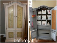 """// a spring/ summer goal! Find a cheap one and transform it into a craft closet! Hide everything, stays """"organized""""!!!"""