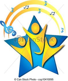 Wektor - Teamwork, śpiew, Talenty, logo - zbiory ilustracji, ilustracje royalty free, zbiory ikon klipart, zbiór ikon klipart, logo, sztuka, obrazy EPS, obrazki, grafika, grafik, rysunki, rysunek, obrazy wektorowe, projekt graficzny, EPS wektor graficzny