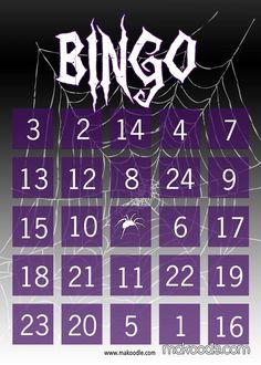 Free printable Halloween Bingo cards