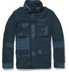 Beams Plus Patchwork M65 Slim-Fit Cotton Field Jacket