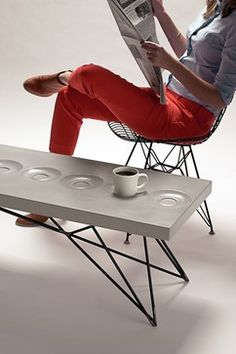 Concrete Orson Coffee Table with Steel Legs - midcentury - Coffee Tables - Phoenix - Gore Design Co., LLC
