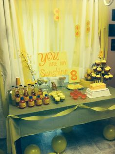 You are my sunshine birthday party idea