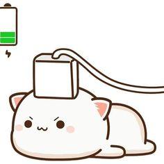 Cute Anime Cat, Anime Kitten, Cute Bunny Cartoon, Cute Couple Cartoon, Cute Kawaii Animals, Cute Cartoon Pictures, Cute Cartoon Drawings, Cute Love Cartoons, Cute Cat Gif