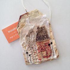 Tea Bag Art from Tina Jensen Art Studio - Used tea bag art piece Measures 1.5 x 2.5 inches