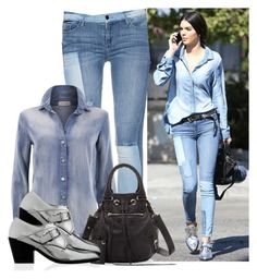 """""""Get the look: Kendall Jenner"""" by jullianaisabel ❤ liked on Polyvore featuring Black Orchid, Balenciaga, Barbara Bui, GetTheLook, denim and kendalljenner"""