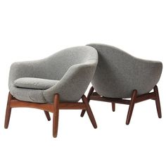 Lounge Chairs By Ib Kofod-Larsen | From a unique collection of antique and modern armchairs at https://www.1stdibs.com/furniture/seating/armchairs/
