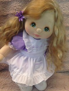 Lovely Aussie Ash Blonde Side Part Ringlet My Child Doll