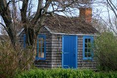 Blue on blue, Woods Hole, MA, Cape Cod