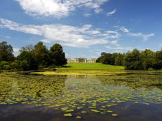View of Stowe House from the Octagon Lake