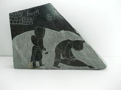 Vintage Soapstone Carving : Inuit Eskimo Art from Canada