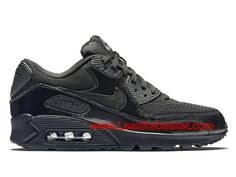 official photos 1980f efb07 Nike Wmns Air Max 90 Premium Noires 443817 002 Chausport Nike pirx For Homme  Noir-1603072174