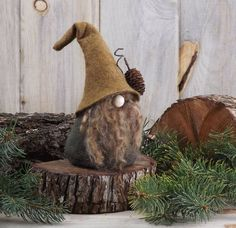 Rustic Wizard Nordic Gnome Scandinavian Gnomes THORNE Nordic Gnomes Wizard Gnome Home Tomte Nisse Elf Elves Elfin Make-Believe Christmas Gnome, Christmas Crafts, Christmas Ornaments, Scandinavian Gnomes, Xmas Decorations, Elves, Projects To Try, Crafty, Handmade
