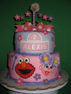 amazing sesame street cakes | Alexis' Girly Sesame Street Cake - The House of Cakes