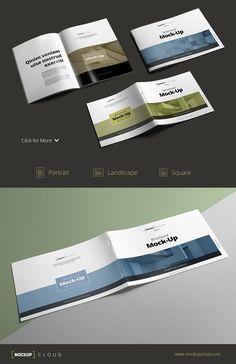 Brochure Mock-Up Bundle by Mockup Cloud on Creative Market