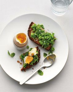 Soft-Boiled Egg with Mashed Peas on Toast Recipe