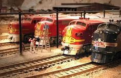 Model train- Santa Fe. Widely used in the States.