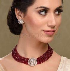 38 ideas for jewerly necklace diamond simple Gold Jewellery Design, Bead Jewellery, Gemstone Jewelry, Diamond Jewelry, Gold Jewelry, Beaded Jewelry, Beaded Necklace, Diy Jewelry, Jewelry Accessories