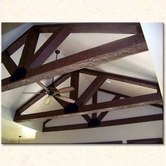 Faux wood beams and trusses (Tuscany texture).