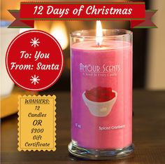 Amour Scents - 12 Days of Christmas Sweepstakes http://www.weidknecht.com/2014/12/amour-scents-12-days-of-christmas.html