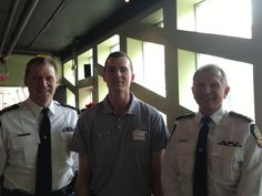 Edmonton Fire Chiefs and a security specialist dropped in.