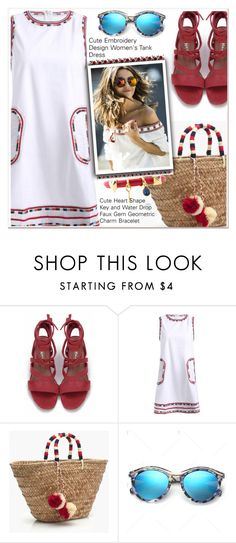 """embroidery dress"" by paculi ❤ liked on Polyvore featuring J.Crew"