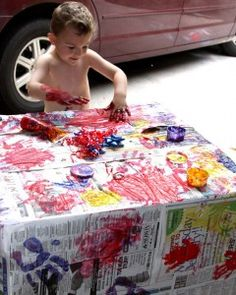 Make Gift Wrapping Paper – Fun For Kids