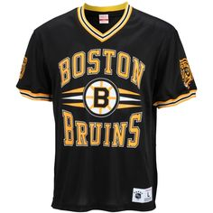 NHL Boston Bruins Mitchell   Ness 1 Spot Mesh T-Shirt - Black Nhl Boston 1efc8169e