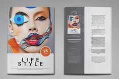 Life Style Magazine Template by thirtypath on Creative Market