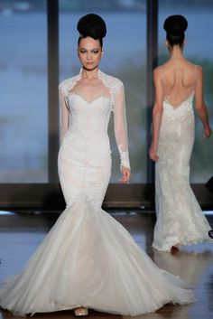 Wedding Dress Cover-Up Gown by Ines Di Santo, Fall 2014.