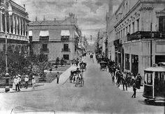 Cd. de Mexico, Av San Francisco y San Juan de Letran 1895