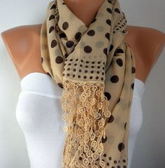 Mustard  Scarf  Cotton Scarf by fatwoman, $17.00- I adore this!!!