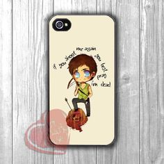 Daryl Dixon cute doodle with funny quote -stll for iPhone 6S case, iPhone 5s case, iPhone 6 case, iPhone 4S, Samsung S6 Edge