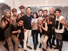 Siwon's Twitter with Donghae, Boa and EXO