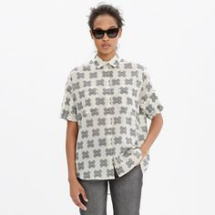 Madewell - Courier Shirt in Ornamental Clover - LOVE all Madewell shirts, and love this pattern.