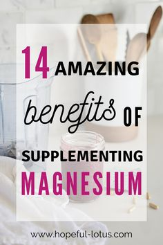 14 Amazing Benefits of Magnesium Supplements Benefits Of Magnesium Supplements, Calcium Magnesium, Magnesium Chloride Benefits, Magnesium Types, Magnesium Drink, Detox Supplements, Health Benefits, Health Tips, Women's Health