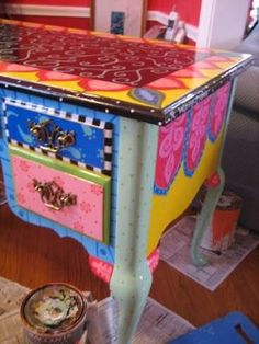 painted desk -- special order by Rebecca Waring-Crane by maque