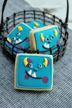 monsters inc cookies - (no recipe just party inspiration)