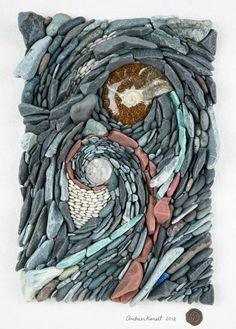 By ‎Andreas Kunert. www.ancientartofstone.com-use shells, rocks, wood, charcoal, seeds, etc to be inspired from this piece