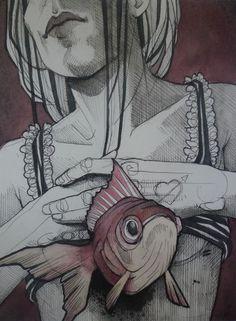 untitled - Paintings - Lea Nahon - Tattoos & Paintings