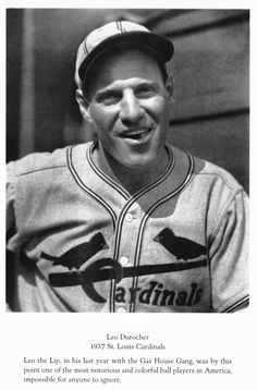 "Leo ""The Lip""  Durocher, 1937 St. Louis Cardinals, by: Charles Conlon"