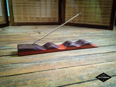 Incense holder stand in real wood Waves in Padouk by Toutanbwa Meditation Altar, Incense Holder, Real Wood, Essential Oils, Waves, Essential Oil Blends, Wave
