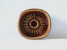 Soholm Denmark Stentoj - Solsikke Candle Holder - Einar Johansen - 3653 - Danish Pottery