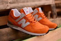 "New Balance 576 ""Made in England"" Orange Pack - EU Kicks: Sneaker Magazine Nb Sneakers, Orange Sneakers, New Balance Sneakers, Classic Sneakers, New Balance Shoes, Me Too Shoes, Men's Shoes, Adidas Shoes Outlet, What To Wear Today"