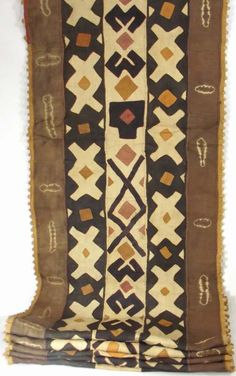 Africa | Kuba raffia cloth from the DR Congo | ca. late 20th century