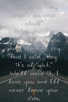 Circles || Pierce The Veil---I sang that part to my sister and she gave me a hug!!! XD